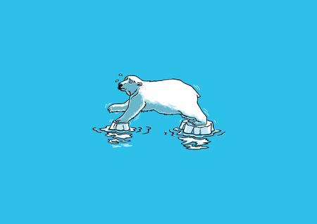 melting: Polar Bear Illustration