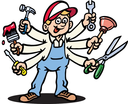 plumber with tools: Jack de todos oficios