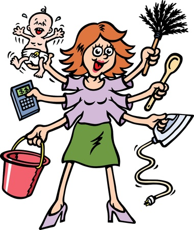 Busy Mum Stock Vector - 9242148