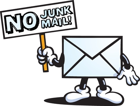 send mail: Junk Mail Guy Illustration