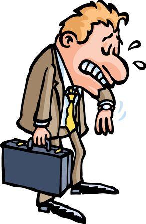 late: Late Businessman Illustration