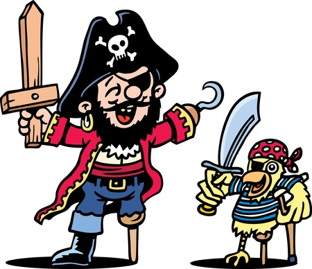 Pirate Dress Up Vector