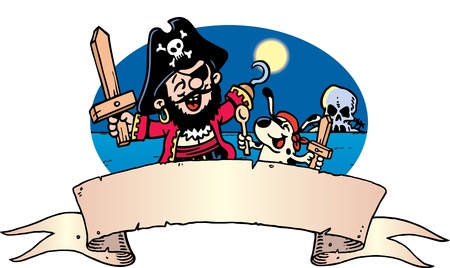 Pirate Invite Vector