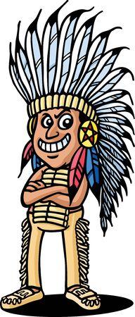 indio americano: Indios americanos Vectores