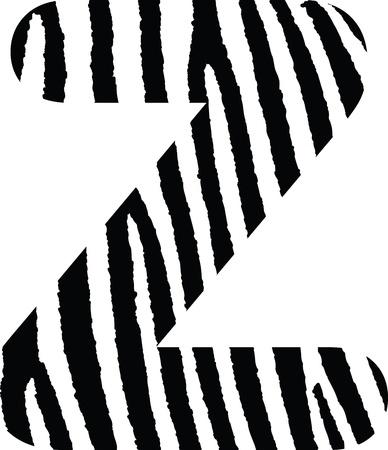 Zebra Letter Vector