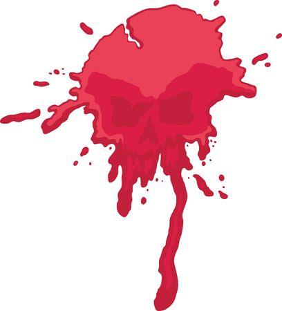 Blood Skull Splatter Vector