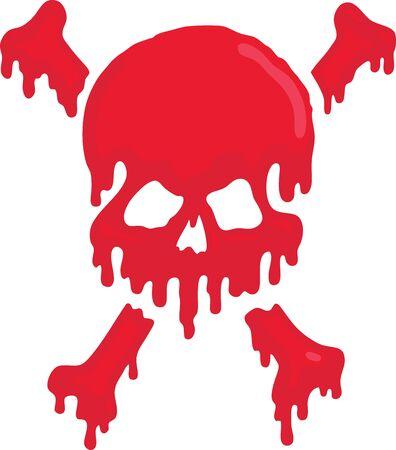Blood Skull Vector