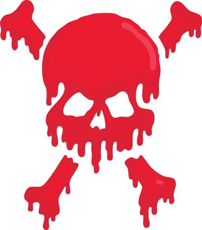 calavera caricatura: Cr�neo de sangre