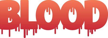 Blood Word Stock Vector - 9289061