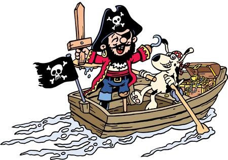 animal leg: Pirate Dress Up Illustration