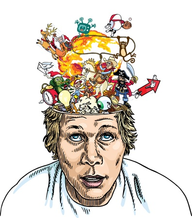 Brain Explosion Stock Vector - 9289067