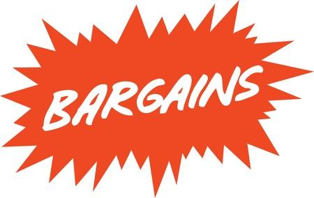 starbursts: Signo de venta Vectores