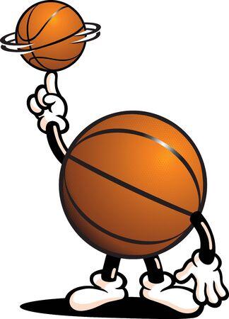 naranja caricatura: Car�cter de baloncesto