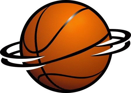 Basketball Spin Stock Vector - 9320894