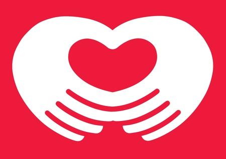 Heart Hands Stock Vector - 9349487
