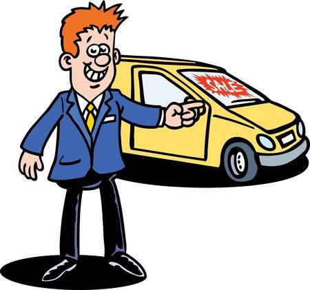 Car Dealer Vector