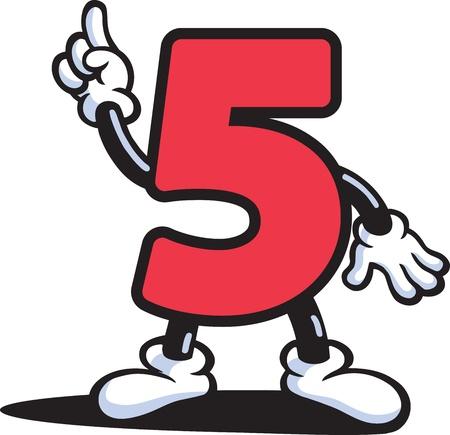Number Guy Vector