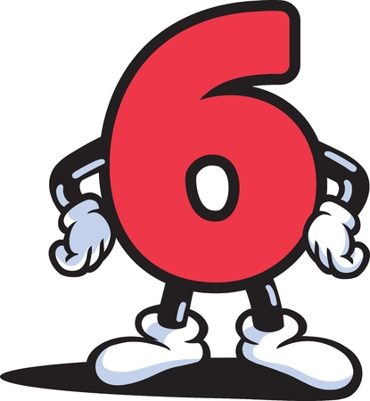 numeric character: Number Guy Illustration
