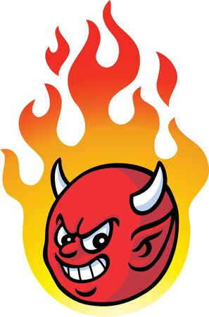 Burning devil Vector