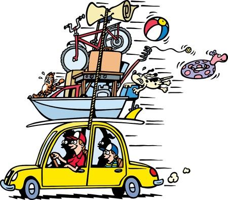 driving a car: Vacaciones en familia