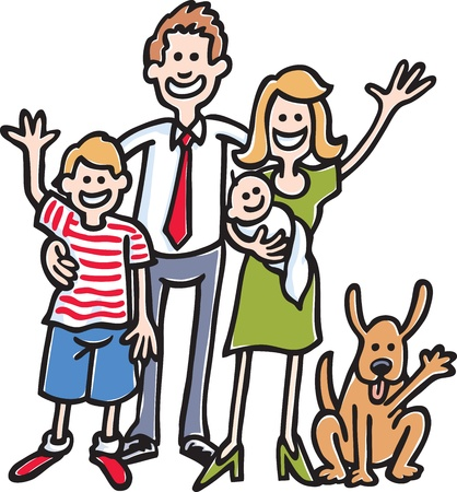 Family Photo Stock Vector - 9561379