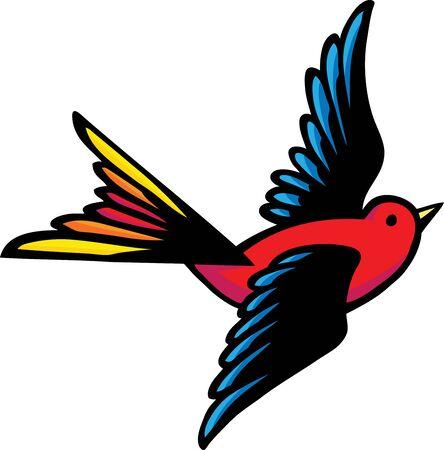 Fantail Bird Illustration