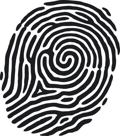 empreinte du pouce: Empreintes digitales Illustration