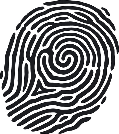 thumbprint: Impronte digitali Vettoriali