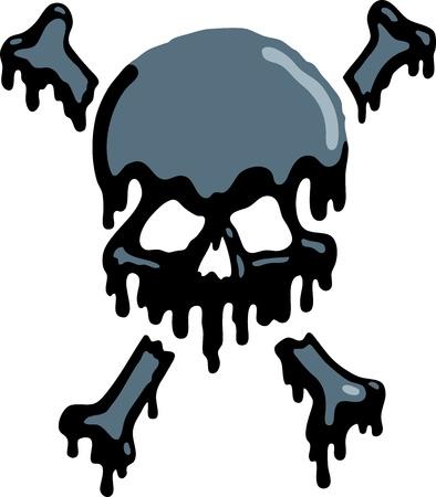 Oil Skull Stock Vector - 9561376