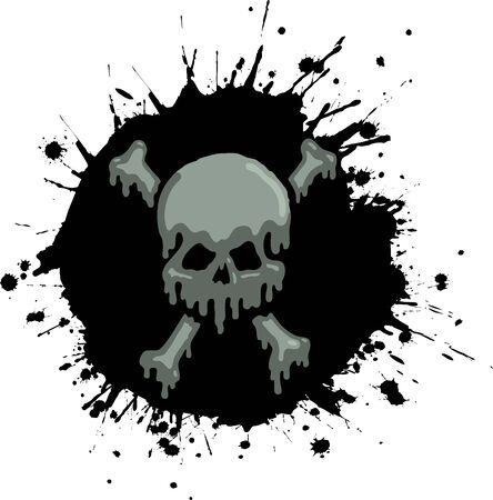 Oil Skull Stock Vector - 9561389