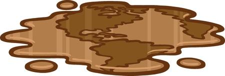 spilled: Oil Earth Illustration