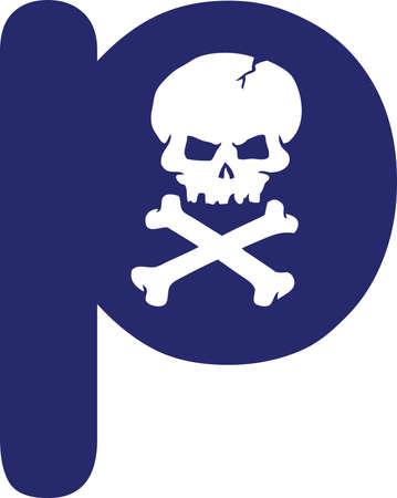 Skull Letter Vector
