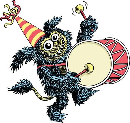 Musikalische Monster Vektorgrafik