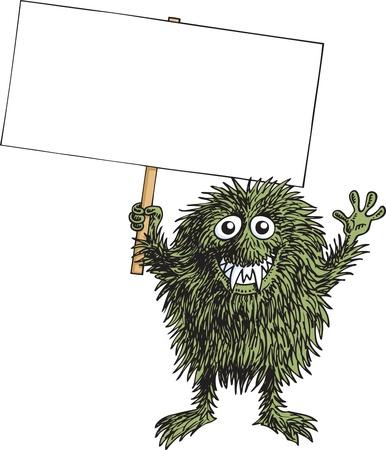 monster teeth: Protest Monster