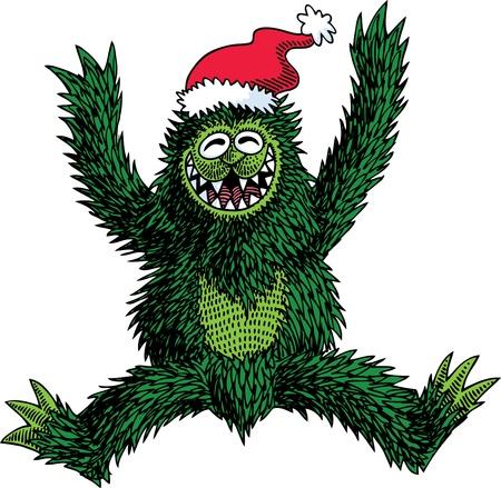 Monster Christmas Vector