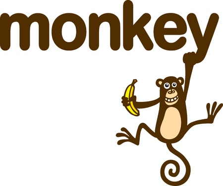 cartoon monkey: Monkey