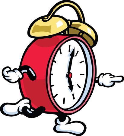 despertador: Corriendo por el reloj Vectores