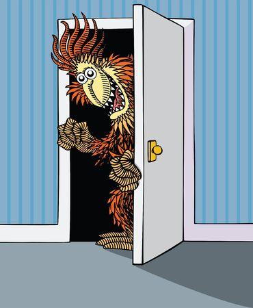 Monster in the Wardrobe Stock Vector - 9765621