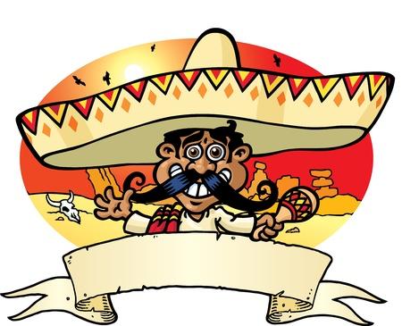 Mexican Man Music Stock Vector - 9884457