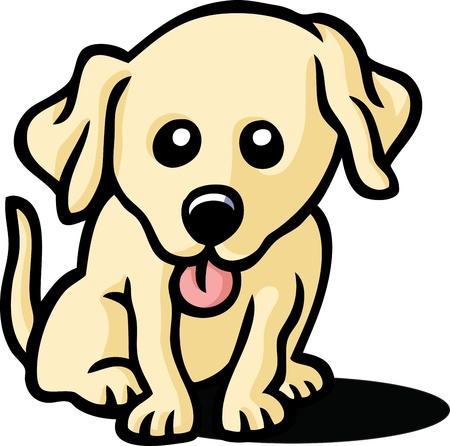 dog ears: Cute Puppy Illustration