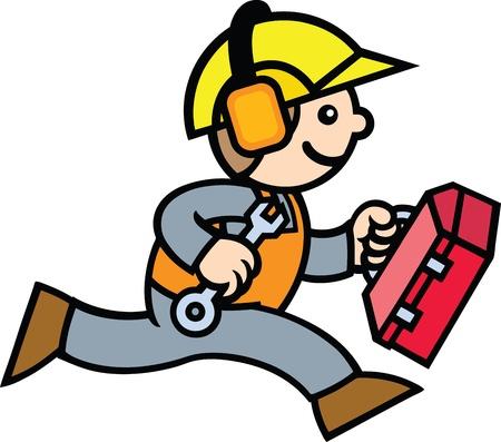 Construction Guy Stock Vector - 9881493