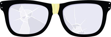 bifocals: Broken Glasses Illustration