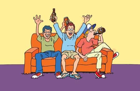 Los partidarios del sofá Foto de archivo - 10009603