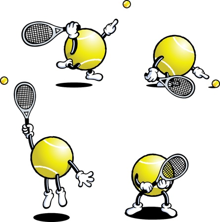 tennis racket: Tennis Guy Illustration