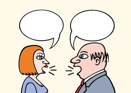 arguing: Business Talk Illustration
