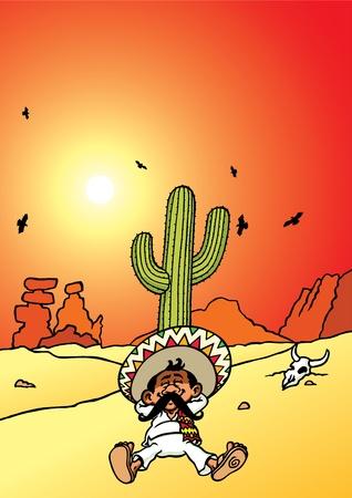 mexican sombrero: Dormire messicano Vettoriali