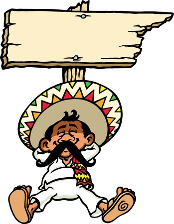traditions: Sleeping Mexican Illustration