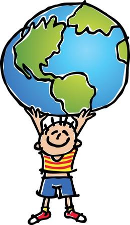 solidaridad: Ayudando al mundo  Vectores
