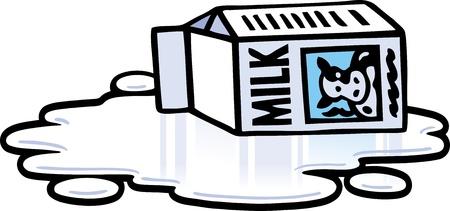 Spilt Milk Illustration