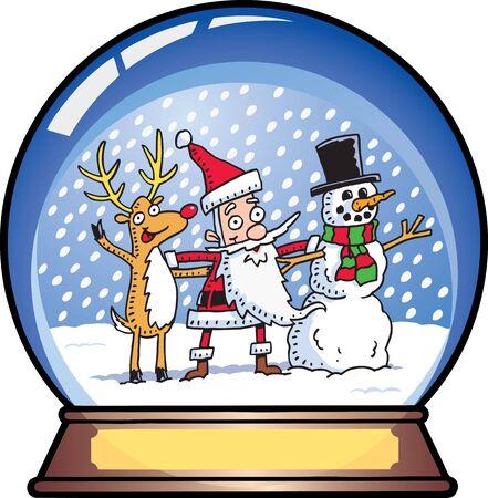 De Santa Snow Globe